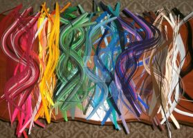 Paper Quilling Strips by wholedwarf