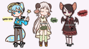 Kemonomimi Adoptables [CLOSED] by Kuumone