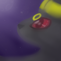 Umbreon under the night sky by SonilverFanForever