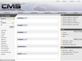 CMS - Application - Interface by informer
