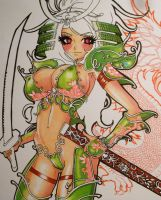 Samurai Girl work in progress3 by drios
