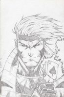 Gambit commish by Kid-Destructo