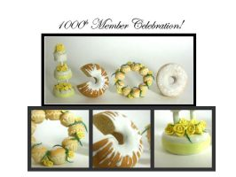 1000th Member Celebration Cake by ElegantInfants