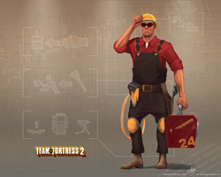 TF2 Engie Wallpaper by TheIcial534