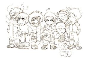 NARUTO favorite group - sketch by Selene-Moon