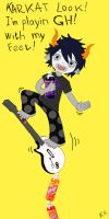 Gamzee Makara and guitar hero by Dead-Batter