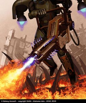 Galaxy Assault: Flame Thrower Rare by IgnusDei