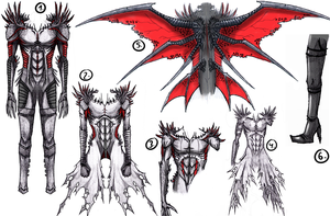 Cain Battle Form Design Drafts by Arrancarfighter