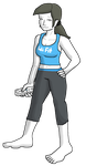 SSB COLLAB Wii Fit Trainer by mortimermcmirestinks