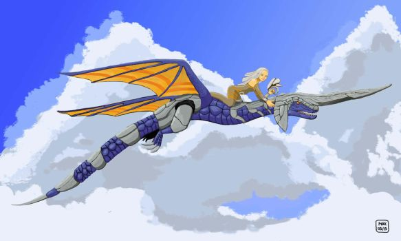 Tribute to Panzer Dragoon by mondedelola