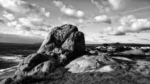 Wedding Rock.... black and white.  by sethses1