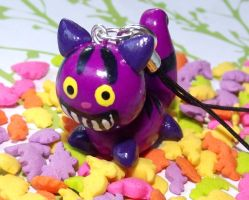 Clay Cheshire Cat Charm by funkypinkgal