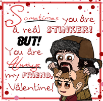 Valentine 2014: Bofur and Bilbo by Kumama