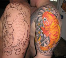 Koi Tattoo Sleeve Buddha by jkrasher