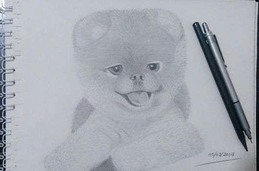 Boo Dog drawing.. by esraolkun