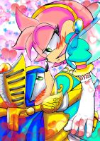 King Sonic and Amy lady of the Lake by Amely14128
