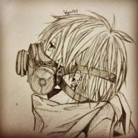 gas mask boy by yujin147