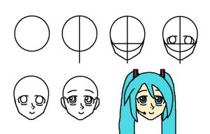 Anime head Tut. -front view- by Supersonia