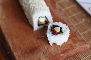 Ura Maki Sushi with sesame by kupenska