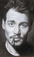 Johnny Depp Portrait by JonMckenzie