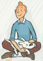 Tintin and Snowy by Jolon