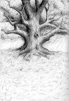 Oak Tree ink by xelf
