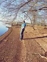Dirty Lake Shore STOP and Think by JeremyC-Photography