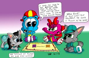 Monopoly Madness by JimmyCartoonist