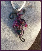 My Beating Heart - Free Form Wire Wrap Pendant by balthasarcraft