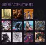 2016 Art Summary by BloodhoundOmega