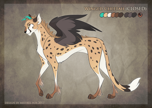 Winged Cheetah (Auction: CLOSED) by Mistrel-Fox