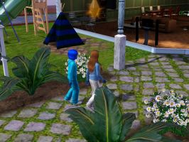 Sims 3 - What a fun bike ride to home from school by Magic-Kristina-KW