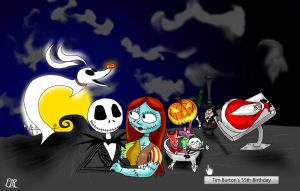 The Nightmare Before Christmas Google by ElectricLimeRose