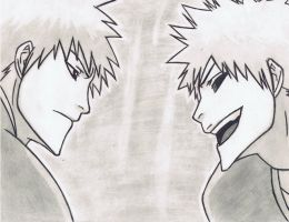 ichigo vs hollow ichigo 2 by Anime019se
