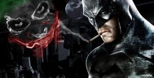 batman smoking joker by nichinu