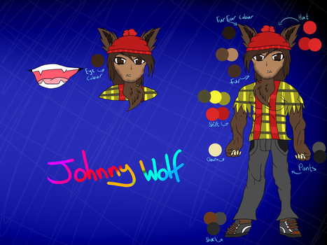 Johnny wolf Ref Sheet by miguelcaminoiscutie