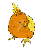 Simplistic Torchic - Commission by cruel-fate