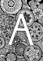 Letter A by nintaa