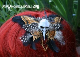 Steampunk Birdskull Fascinator by MADmoiselleMeli