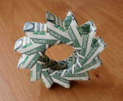 12 Dollar Bill Wheel by craigfoldsfives