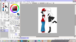 Red x Blue (Female) - WIP by Tibby-san