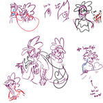 Leilo vs Sugar High compare sketches by DJ-Catsume