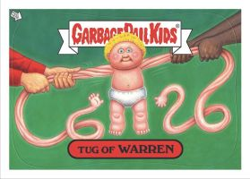 Garbage Pail Kids: Tug of Warren by DeJarnette