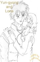 Yun-gyong and Lona by HieiSQueen