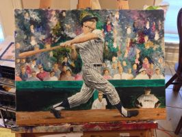Mickey Mantle by SaintRPh