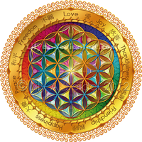 Flower of Life Window Sticker - dark by Lilyas
