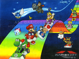 Mario Kart DS by Goddess-Zeusie