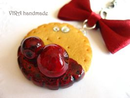Butter cookie with cherry jam by virahandmade