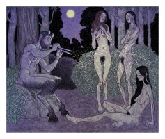 nymphs dig pan pipes by RWHarrison