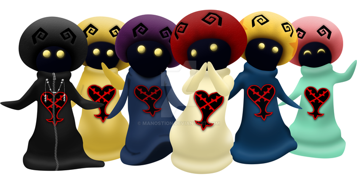 Kingdom Hearts Shrooms by Manostion